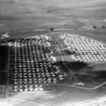 Aerial of prefabs - Approx 1951