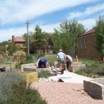 ONCC Inc volunteers Bricklaying Herb Garden 1