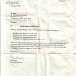 Correspondence re Construction of Vinnies