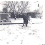 Snow in Narrabundah, Aug 1965 - Mrs Marlene Mc Kie & son Graeme